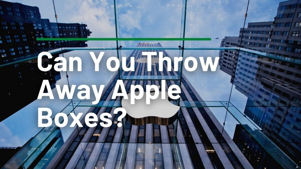 Can You Throw Away Apple Boxes