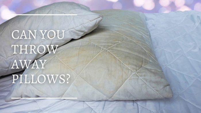 Can You Throw Away Pillows?