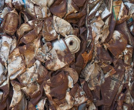 rusted metal recycling